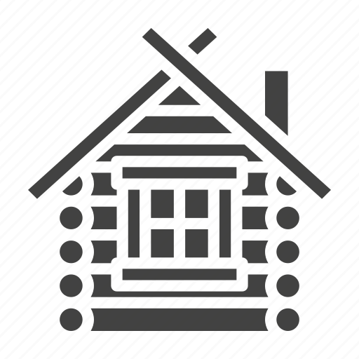 cottage, forester, hut, wooden icon