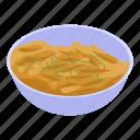 cartoon, dish, family, isometric, pasta, retro, russian
