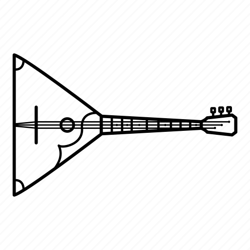 balalaika, guitar, instrument, music, russia, sound, traditional icon