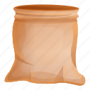 bag, food, hand, rice, sack, vintage