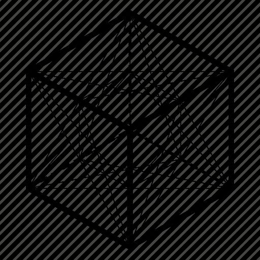 cube, geometry, sacred icon