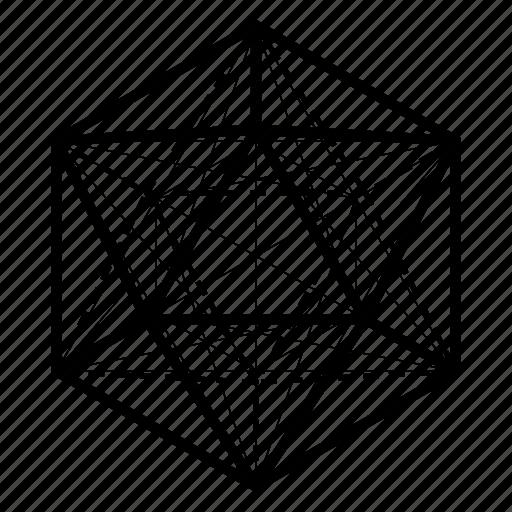 geometry, icosahedron, sacred icon