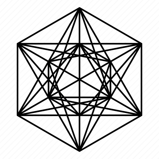 cube, geometry, metatron, metatron's cube, sacred icon