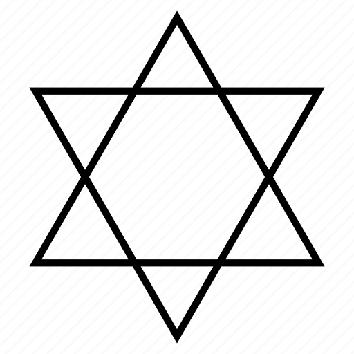 geometry, jew, sacred, star, star of david icon
