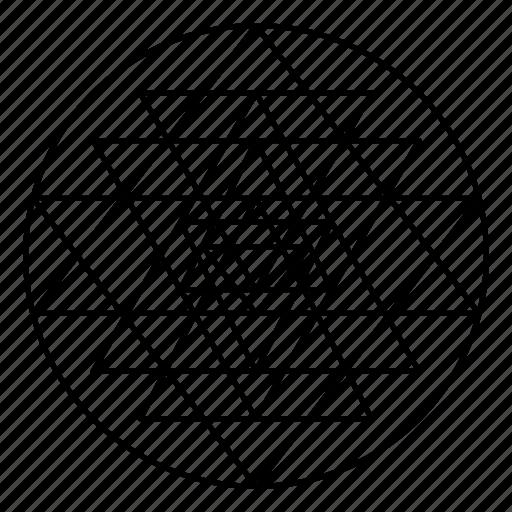 geometry, sacred, shri yantra, sri yantra icon