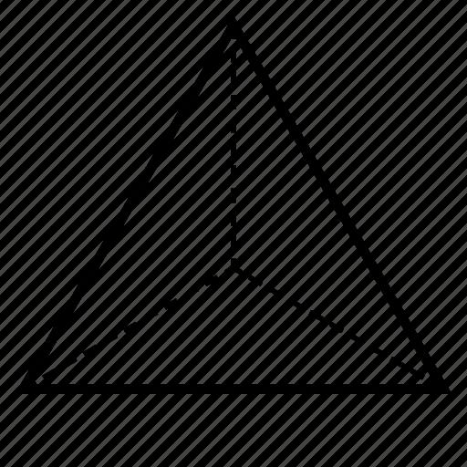 fire, geometry, rte, sacred, tetrahedron icon