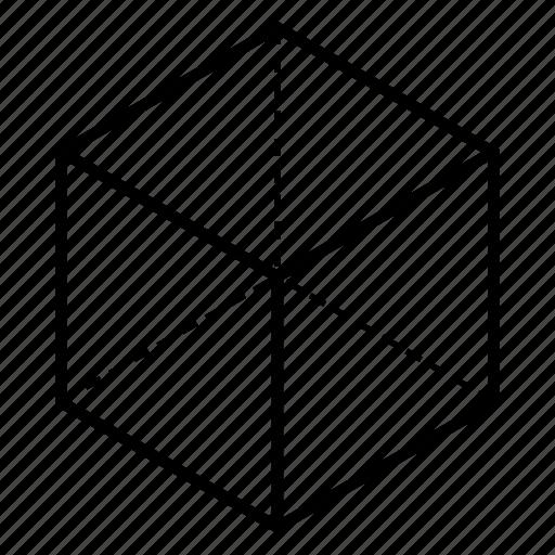 cube, geometry, hexahedron, sacred icon