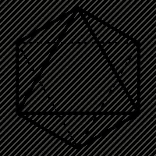 air, geometry, octahedron, sacred icon