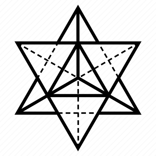 geometry, sacred, star tetrahedron icon