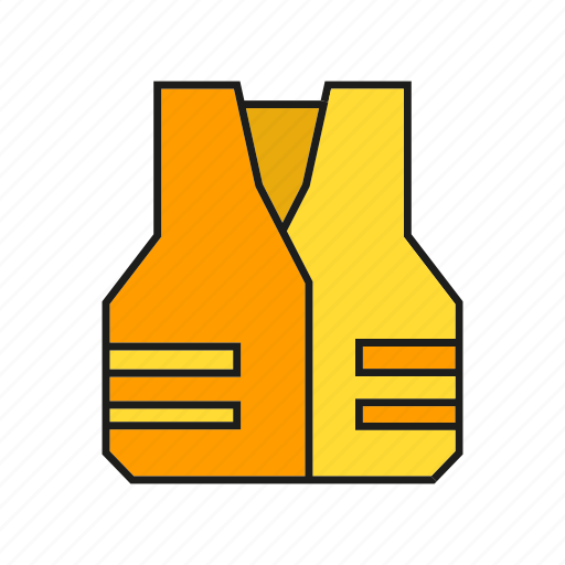 industry, protection, safety equipment, safety vest, shirt, vest icon
