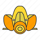 gas mask, industry, pollution, protection, rescue, respirator, safety equipment icon
