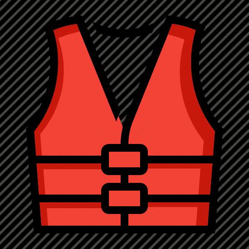 Boating, float, jacket, life, preserver, vest icon - Download on Iconfinder