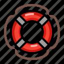 breeches, buoy, float, lifebuoy, safety icon