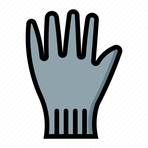 glove, hand, protector, safety icon