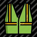 cloth, coat, labor, luminous, protective icon