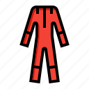 cloth, coat, labor, protective, suit icon