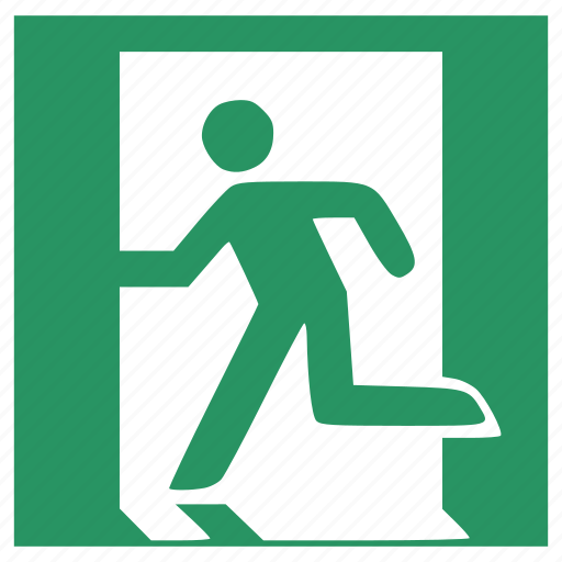 avatar, emergency, exit, human, protection, safe, secure icon