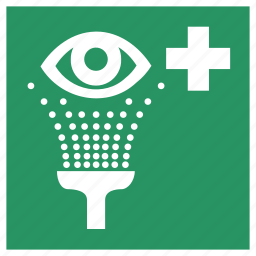 emergency, eye, eyes, safe, safety, shower, view icon
