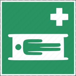 bed, dead, death, emergency, healthcare, medical, sleep icon