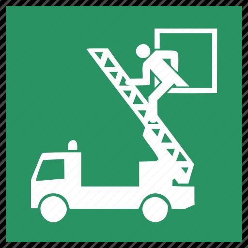 burn, close, door, exit, fire, fire man, logout icon