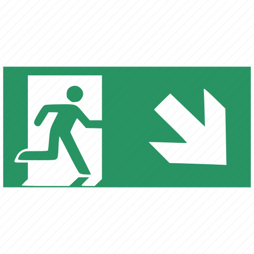 arrow, creative, direction, download, exit, right, up icon