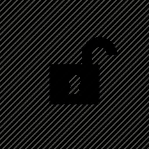 lock, safety, security, unlocked icon