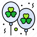 balloon, celebrate, clover, party, day