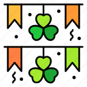 garland, irish, day, celebration, heart