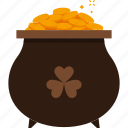 coin, gold, patrick, pot, st patricks day icon
