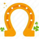 clover, horseshoe, luck, patrick, st patricks day icon