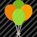 balloon, party, patrick, st patricks day icon