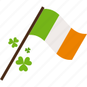 clover, flag, ireland, patrick, st patricks day