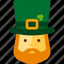 clover, elf, leprechaun, patrick, st patricks day icon