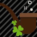 clover, patrick, smoking pipe, st patricks day
