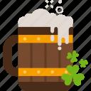 beer, clover, mug, patrick, st patricks day