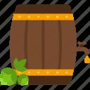 barrel, beer, hop, patrick, st patricks day icon