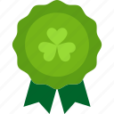 badge, clover, luck, patrick, st patricks day icon