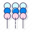 dango, fishballs, food, meatballs, satay, snack icon