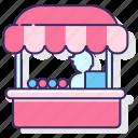 food, food stall, food vendor, vendor icon