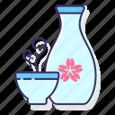 alcohol, japanese rice wine, rice wine, sake, wine icon