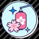 cherry blossom festival, festival, sakura, sakura festival, sakura lantern icon
