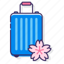 tour, sakura tour package, cherry blossom trip, travel, japan, cherry blossom tour, luggage