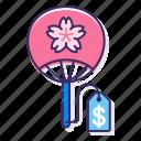 hand fan, japanese fan, japanese souvenir, sakura souvenir, souvenir icon