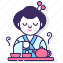 cultural, culture, japanese, kimono, tea, tea ceremony, traditional icon