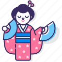 cultural, culture, dance, japan, japanese, kimono, traditional icon