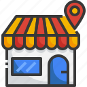 location, shop, pin, shopping, store, commerce