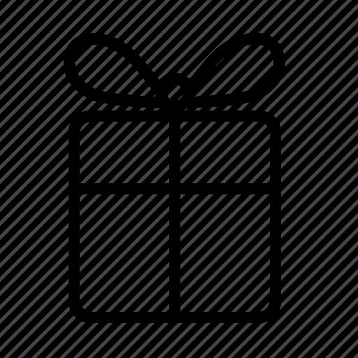 birthday, bonus, cash back, cashback, charity, gift box, giftbox, giveaway, line, package, parcel, reward icon