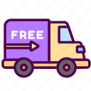 delivery, free, online, sales, shop icon