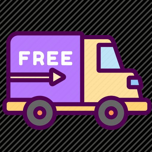 delivery, free, online, sales, shop icon