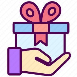 box, gift, online, sales, shop icon